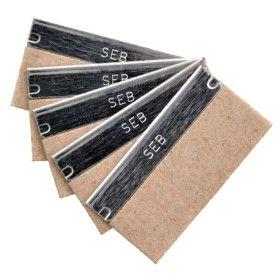 Cuchillas rascacristales 4 cms., carbono 100 UDS